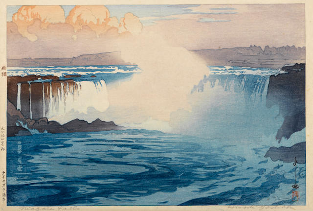 Yoshida Hiroshi (1876-1950)<BR />Niagara Falls