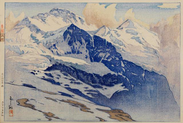 Yoshida Hiroshi (1876-1950)<BR />Jungfrau, Breithorn