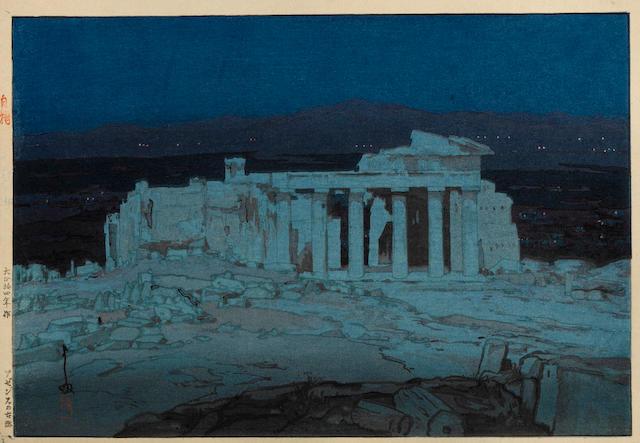 Yoshida Hiroshi (1876-1950)<BR />Acropolis, Night