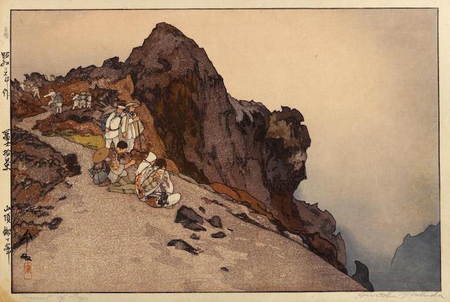 Yoshida Hiroshi (1876-1950)<BR />Five woodcuts