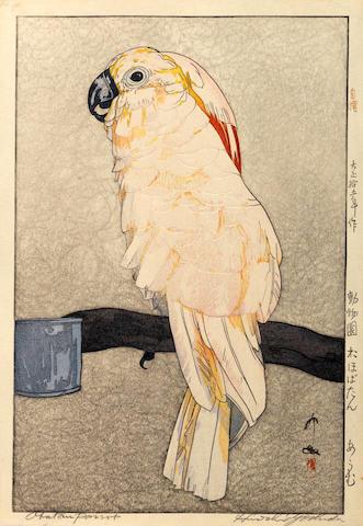 Yoshida Hiroshi (1876-1950) Obatan Parrot
