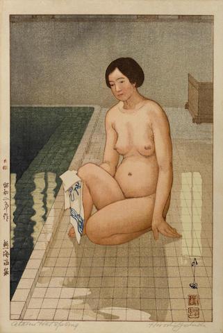 Yoshida Hiroshi (1876-1950)<BR />Two woodcuts