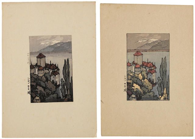 Yoshida Hiroshi (1876-1950)<BR />Ten woodcuts