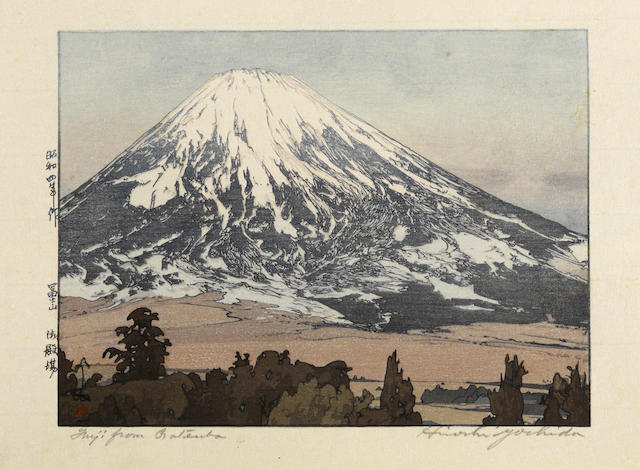 Yoshida Hiroshi (1876-1950) Three woodcuts
