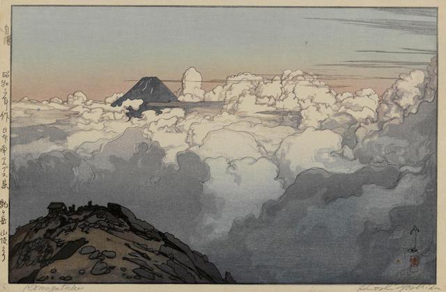 Yoshida Hiroshi (1876-1950)<BR />Three woodcuts