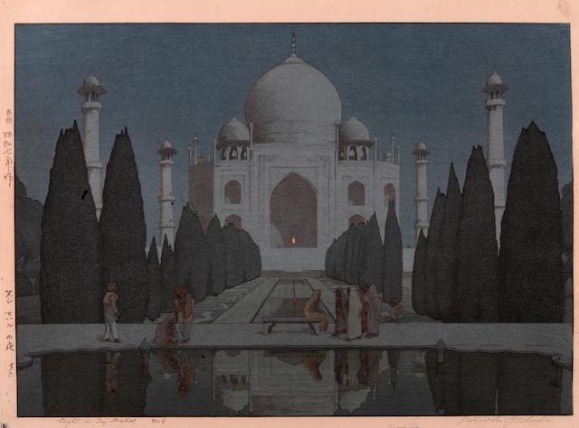 Yoshida Hiroshi (1876-1950)<BR />Night in Taj Mahal no. 6