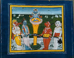 Nineteen devotional cards of the Vishnu avatars Jaipur, circa 1850
