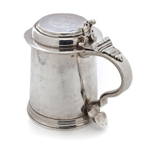 An American Silver Tankard Thomas Hammersley, New York, circa 1755