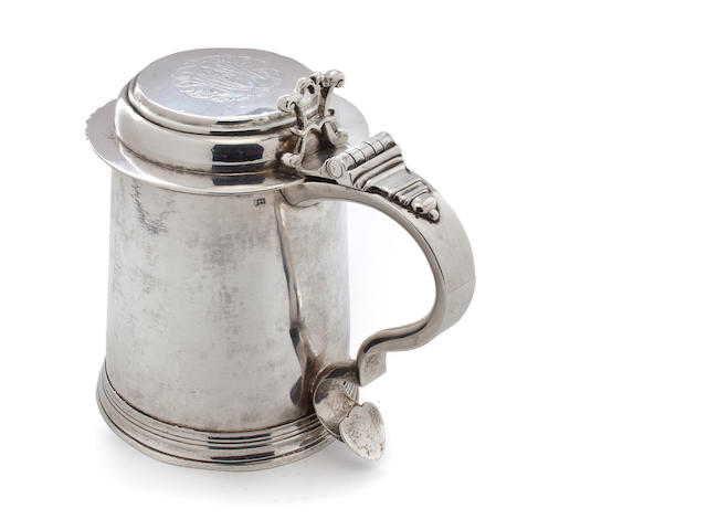 An American Silver Tankard Thomas Hammersley, New York, circa 1755