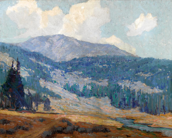 Harvey B. Coleman (American, 1884-1959) Mountain slopes 24 1/4 x 30 1/4in