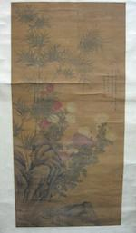 Attributed to Jiang Pu (1708-1761)  Chrysanthemum and Bamboo