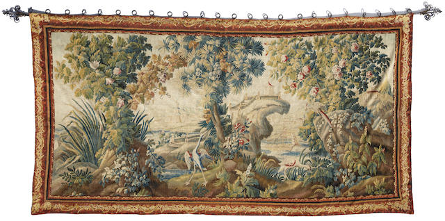 A Flemish Baroque landscape tapestry <BR />late 17th/early 18th century