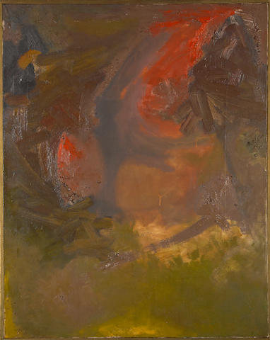 Jess (American, 1923-2004) On Corbett's Dismissal 40 x 31 3/4in (101.6 x 80.6cm) <BR />framed 41 x 33in (104 x 83.8cm)