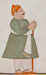 Rawat Gyan Singh of Gyangarh Attributed to Chokha, Devgarh, dated 1811