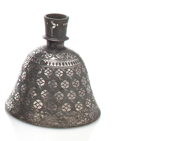 A bidri hookah base Bidar, Deccan, late 18th century