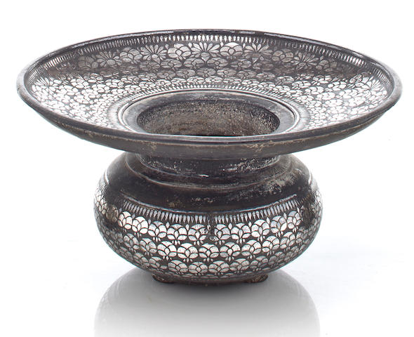 A bidri basin (sailabchi) Bidar, Deccan, 17th/18th century