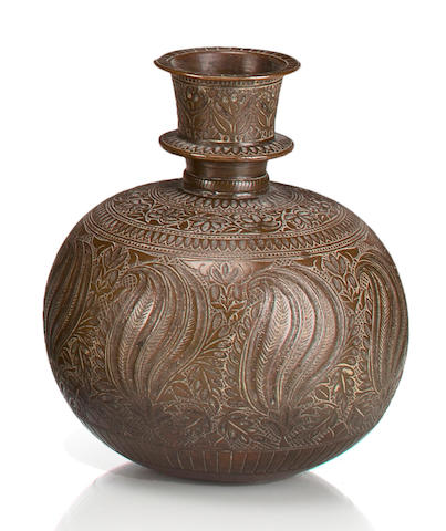 A copper alloy hookah  base  Northern India or Lahore, 18th century