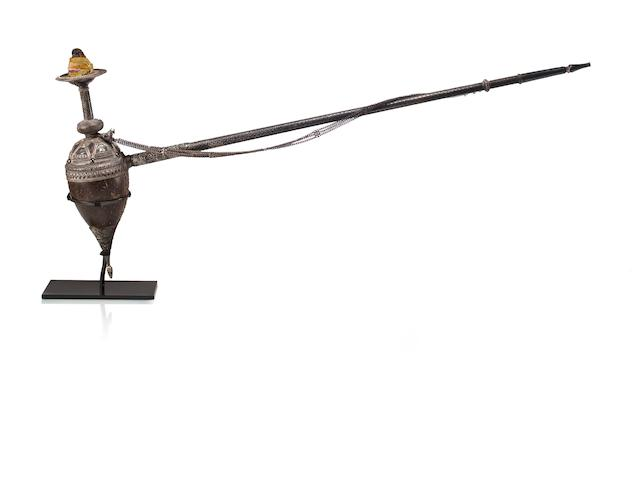 A long stem hookah Rajasthan, 19th century