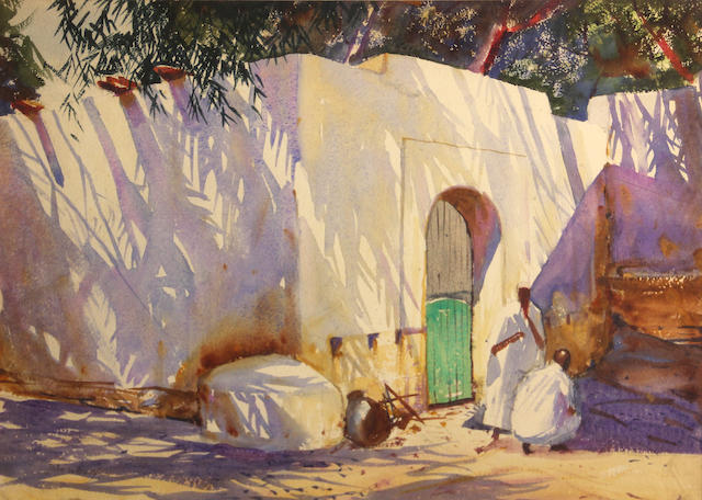 John Whorf (American, 1903-1959) Afternoon, Morocco, 1926 14 1/2 x 20in