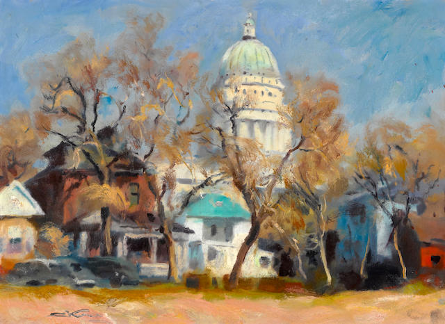 Emil Jean Kosa, Jr. (American, 1903-1968) Capitol building, Salt Lake City, Utah 22 x 30in