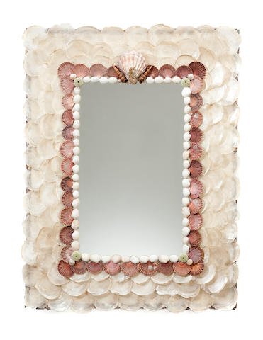 A shell decorated mirror