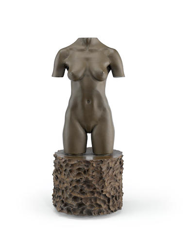 Robert Graham (1938-2008) MOCA Torso, 1992-95 11 x 4 1/2 x 4 1/2in (27.9 x 10.8 x 11.4cm)