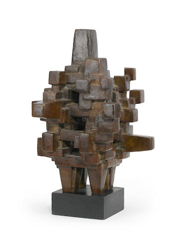 Jacques Schnier (American, 1898-1988) Sanctum Sanctorum, 1960-62 17 x 11 1/2 x 13in (43.2 x 29.2 x 33cm)<BR />height with base 19 1/2in (49.5cm)