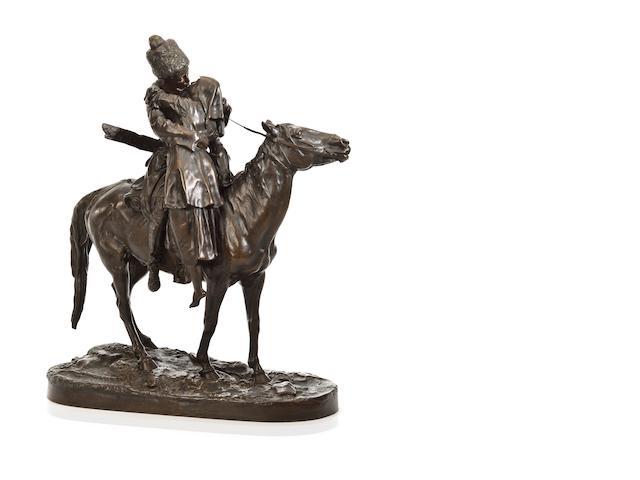 """E. Lance Rey, """"Farewell Kiss"""" Bronze Sculpture"""