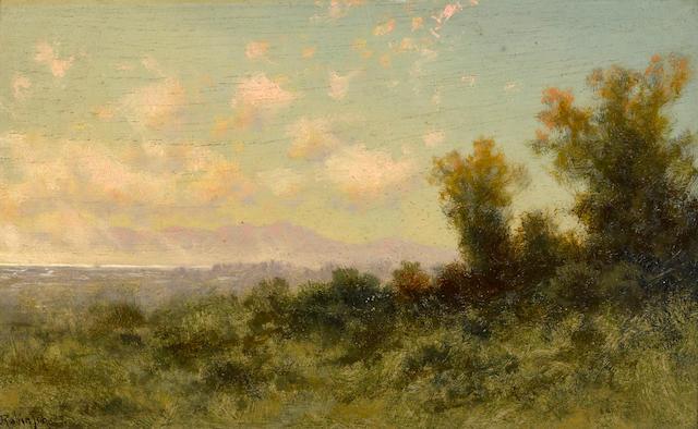 Charles Dormon Robinson (American, 1847-1933) Mount Tamalpais 5 3/4 x 9 1/2in