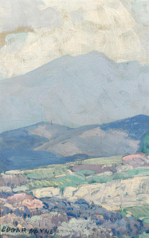 Edgar Payne (1883-1947) Distant mountains 15 x 9 1/2in