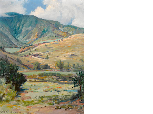 David Howard Hitchcock (American, 1861-1943) West Maui mountains, 1935 16 x 12in