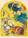 Marc Chagall (Russian/French, 1887-1985), The Tribe of Naphtali Color lithograph signed in pencil lower right and numbered lower left: 66/150 25 1/2 x 18 1/2in (sight)