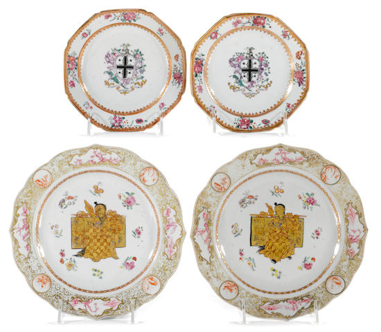 Two pairs of Chinese Export porcelain plates  second half 18th century