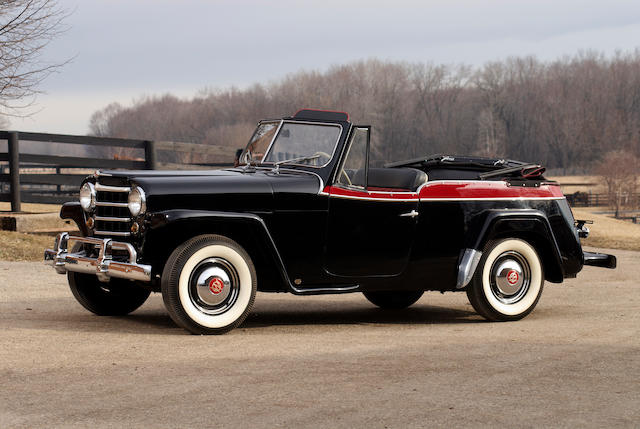From the Oldenburg Family Collection,1950 Willys Jeepster  Chassis no. 673VJ 11064 Engine no. 1S 12038