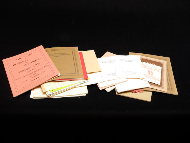 A large quantity of RROC reproductions of original Rolls-Royce and Bentley literature,