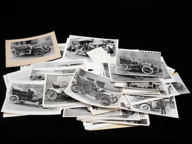A large collection of photographs of pre-Silver Ghost Rolls-Royces,