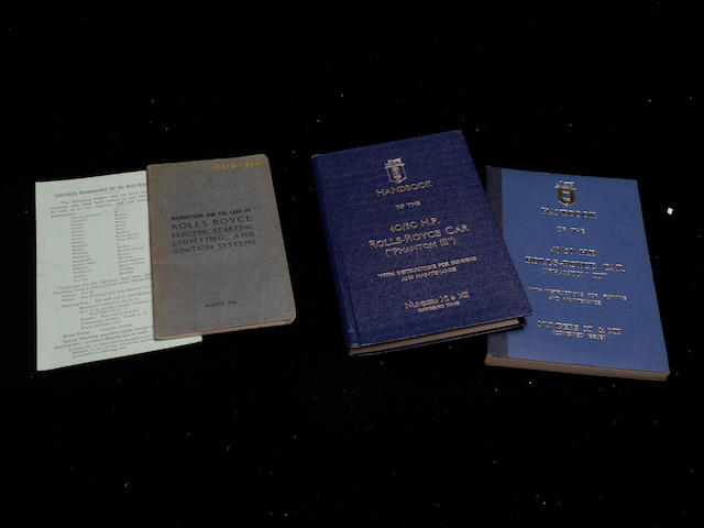 Two Rolls-Royce Phantom III handbooks,