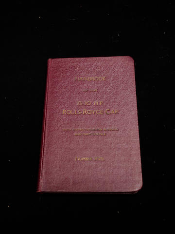 A handbook for the 25-30hp Rolls-Royce,