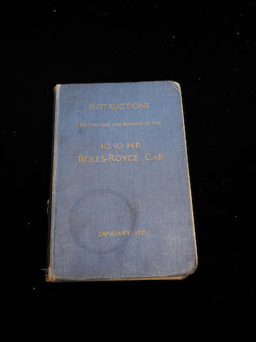 A handbook for a Rolls-Royce Phantom,
