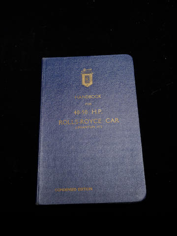 A condensed edition Rolls-Royce Phantom II handbook,