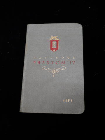 A handbook for a Rolls-Royce Phantom IV,