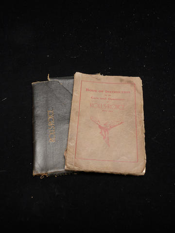 A handbook for a Springfield Rolls-Royce Phantom I,
