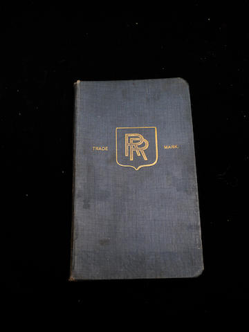A handbook for a Rolls-Royce Silver Ghost,