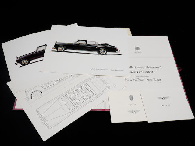 An original catalog for the Rolls-Royce Phantom V State Landaulette,