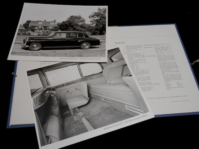 An original catalog for a Rolls-Royce Phantom V Limousine,