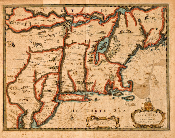 SPEED, JOHN Map of New England 1676