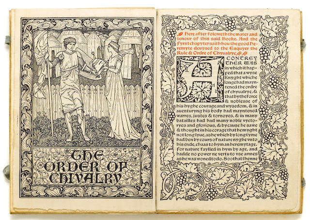 KELMSCOTT PRESS. Order of Chivalry. Hammersmith: Kelmscott Press, 1893.