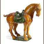 A glazed earthenware model of a Tang horse <BR />modern