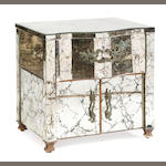 A Rococo modern mirrored glass bedside cabinet <BR />second half 20th century