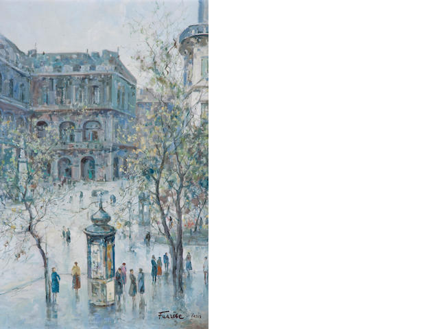 Fuazése Paris street scene Signed and inscribed  Fuazése-Paris (lower right).
